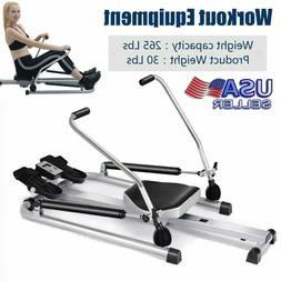 Adjustable Indoor Home Gym Rowing Machine Rower Fitness Card