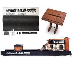 Waterrower Club Rowing Machine Bundle - S4 Monitor, Laptop S
