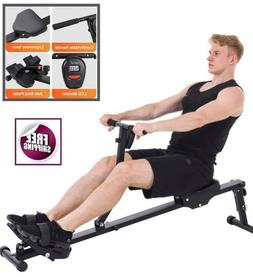 Elastic Cord Rowing Machine Monitor Sport Center Gym Fitness
