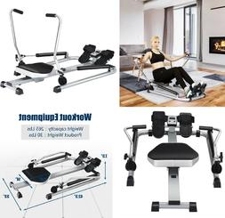 exercise rowing machine adjustable double hydraulic resistan
