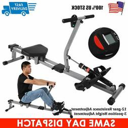 Exercise Rowing Machine Rower w/Adjustable Hydraulic Resista