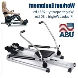 Fitness Home Gym Rowing Machine Rower w/Adjustable Double Hy