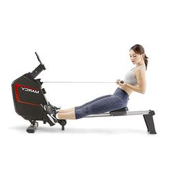 Marcy Foldable Regenerating Rowing Machine for Cardio and St