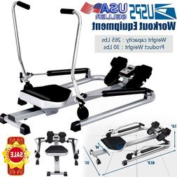 Hydraulic Rowing Machine Folding Rower Adjustable Resistance