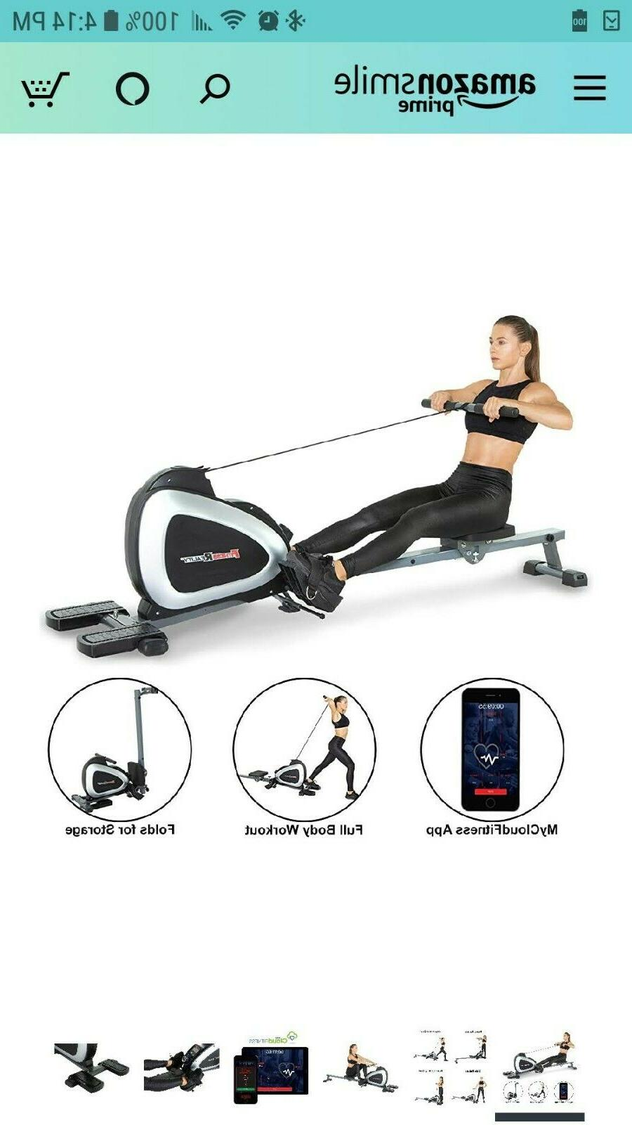 Fitness 1000 Bluetooth Magnetic Rower Rowing Machine