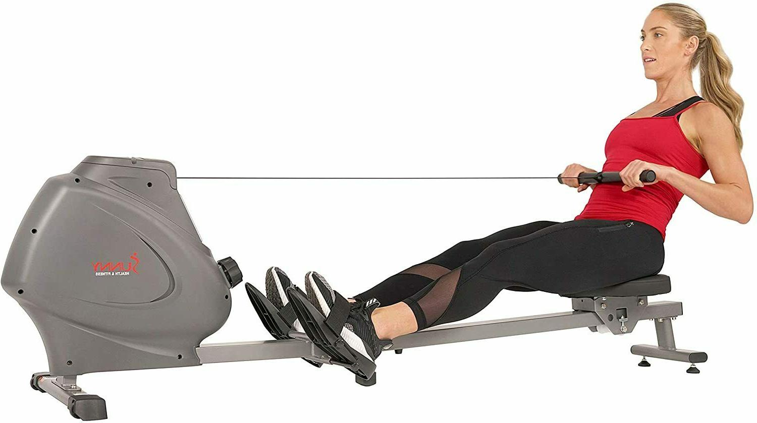 compact folding magnetic rowing machine w lcd
