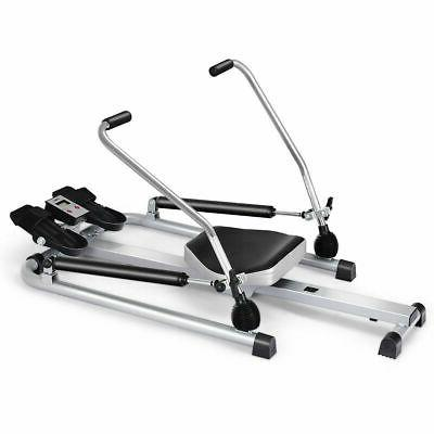 Exercise Rowing Machine w/Adjustable Double Hydraulic Home Gym
