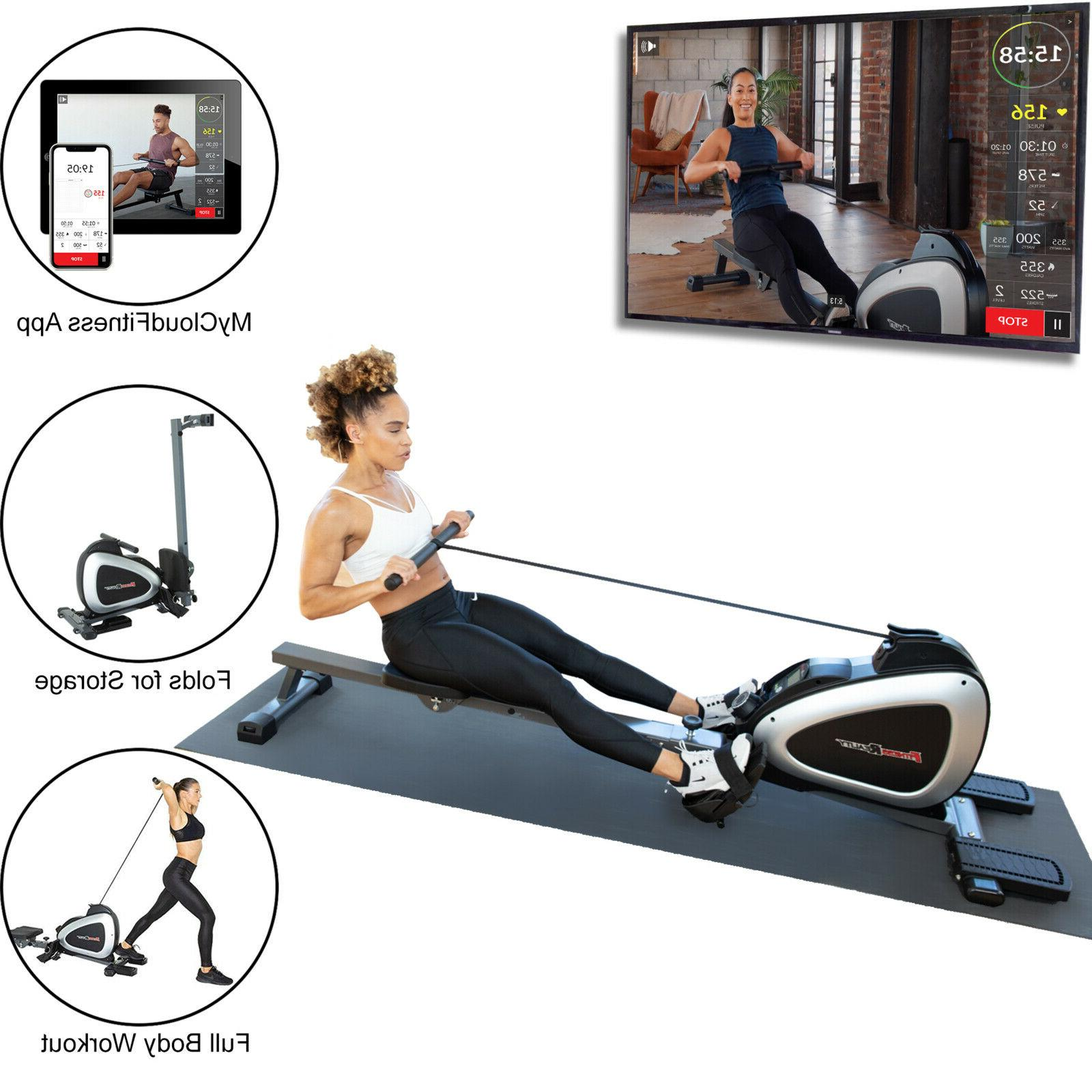 Fitness Reality 1000 Plus Bluetooth Magnetic Rower Rowing Ma