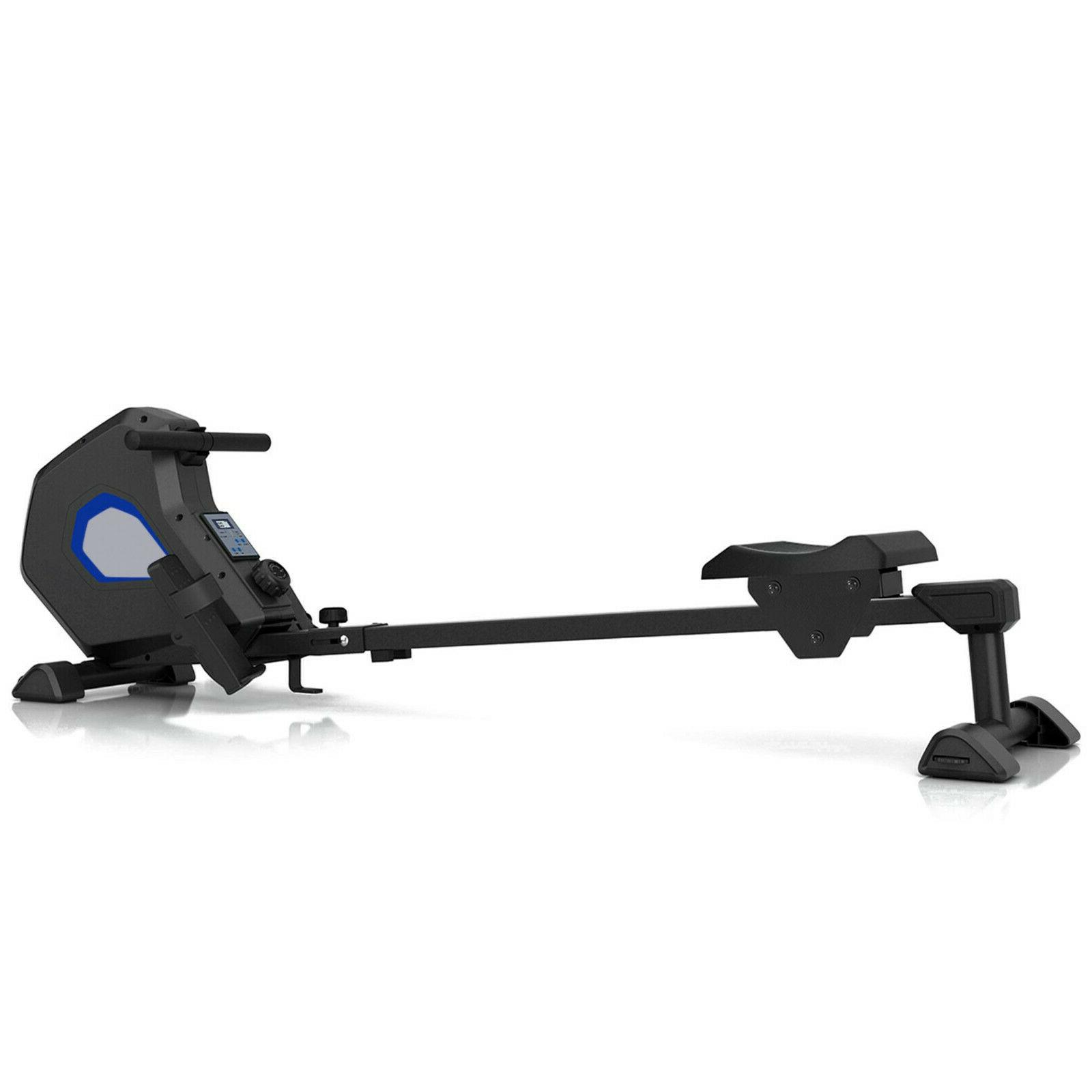 Foldable Magnetic Rower Rowing Machine with 8 Resistance for