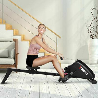 Foldable Magnetic Rowing Machine Rower w/ 10-Level Tension R
