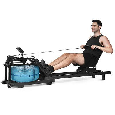 adjustable health fitness water rowing machine rower