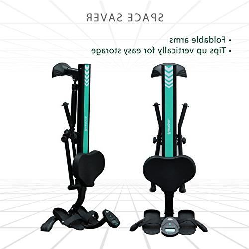 Harvil Hydraulic Rowing Adjustable Resistance with Folding Arms, LCD Monitor & Safety Straps