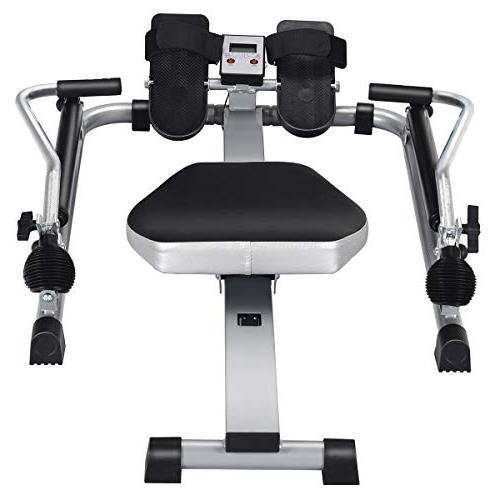 Goplus Hydraulic Rowing Rower Adjustable and Full Arm 250 Weight Capacity Exercise Use