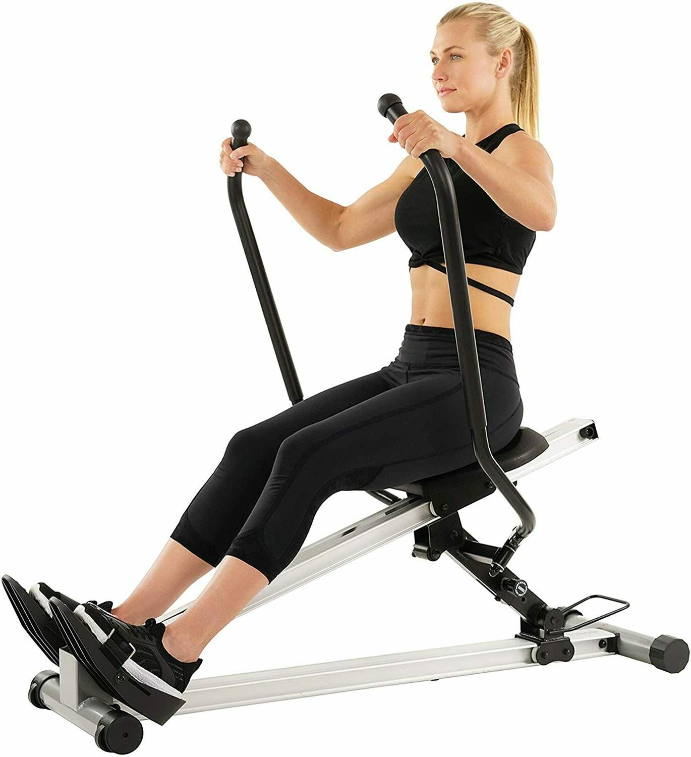 Sunny Health & Fitness Incline Full Motion Rowing Machine Ro