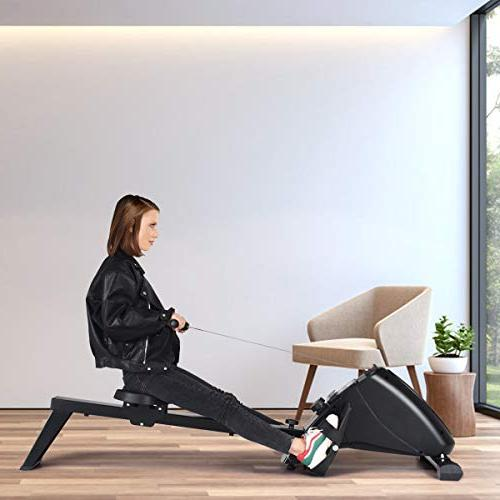 Goplus Magnetic Rowing Foldable 10-Level LCD Transport Full Exercise Home