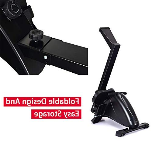 Goplus Rowing Machine Foldable Exercise 10-Level System, LCD Full Exercise Home