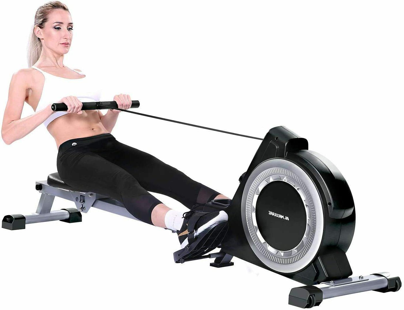 magnetic rowing machine 16 levels resistance delivered