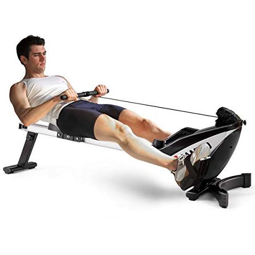 Goplus Magnetic Rowing Machine Display and Adjustable Exercise Fitness