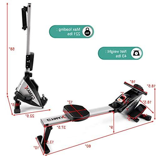 Goplus Machine Folding Rower with Display Exercise Fitness