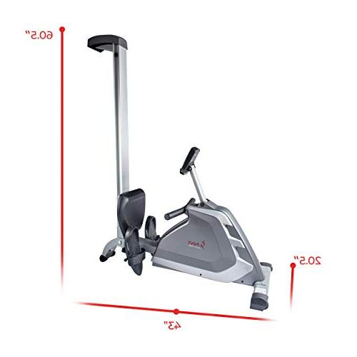 Sunny Health & Magnetic Machine with High Weight Dual Resistance, and Aluminum Slide -