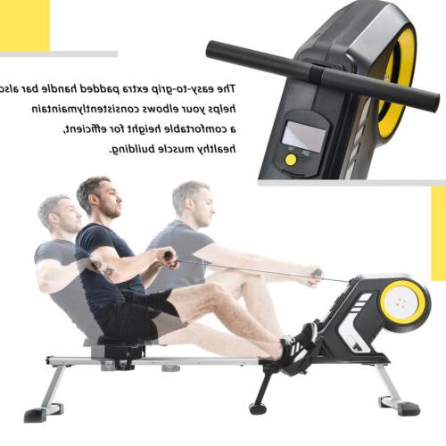 Foldable 8-Level Magnetic Resistance Cardio Exercise Rowing