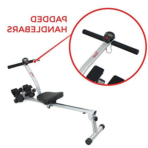 Sunny Health & Fitness SF-RW1205 Adjustable Resistance Rowing Digital