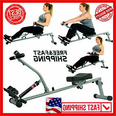 Rowing Machine Exercise Rower 12 Adjustable Double Hydraulic