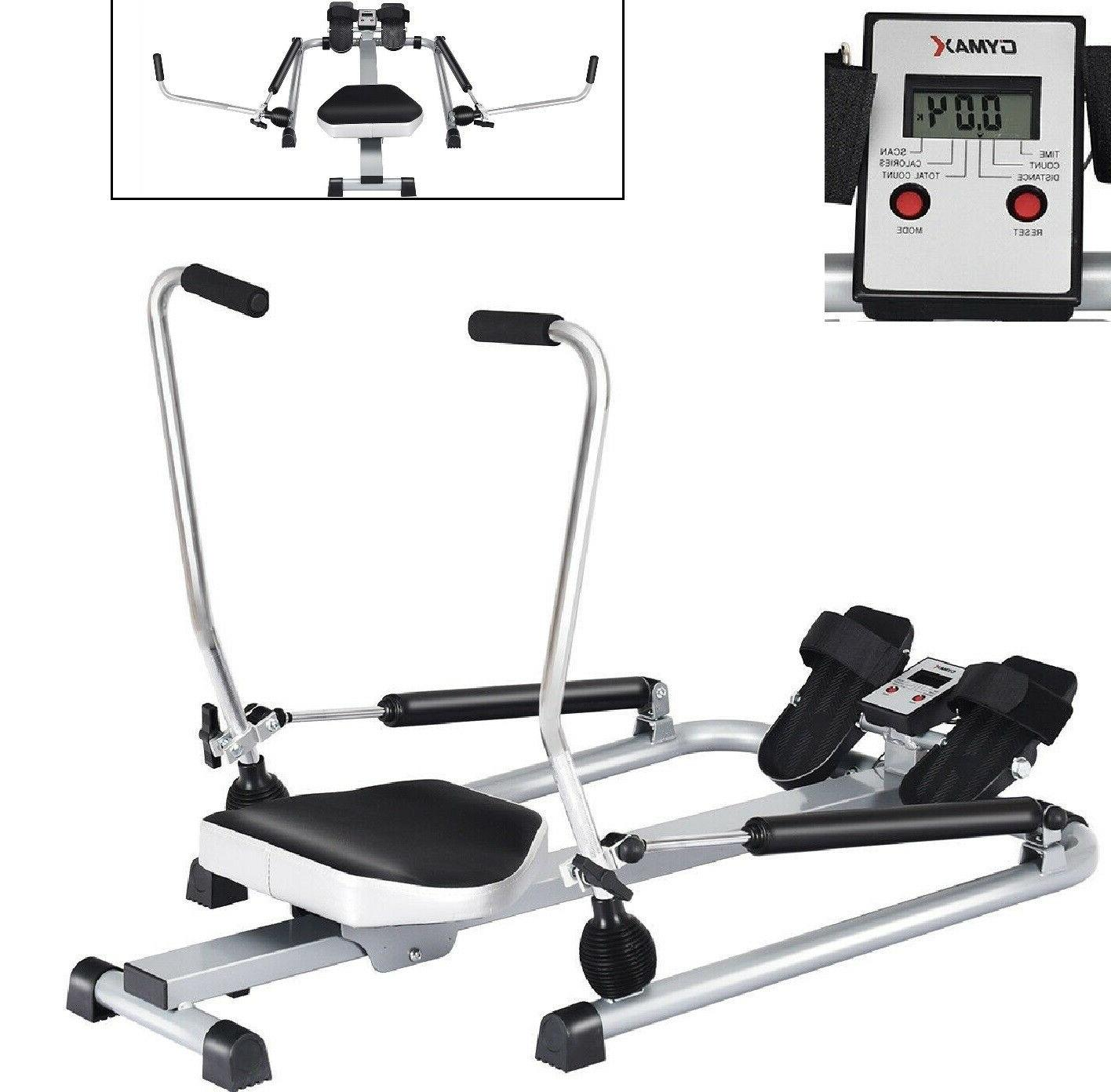 rowing machine hydraulic rower adjustable resistance levels