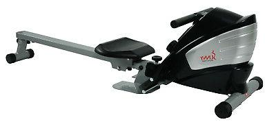 sunny health fitness dual function magnetic rower