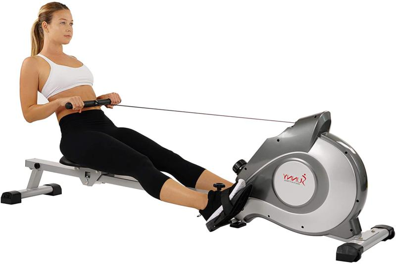 sunny health fitness magnetic tension system rower