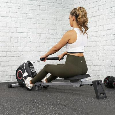 Magnetic Rower Glider Cardio Fitness Exercise Rowing Machine