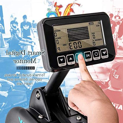 Merax Rowing – Fitness Rower with LCD Home Gym