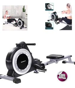Magnetic Rower Rowing Machine Monitor 16 Levels Sport Center