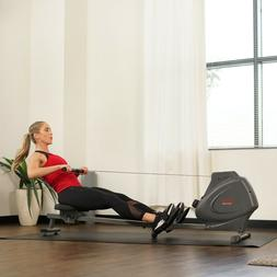 Sunny Health Fitness Magnetic Rowing Machine Rower LCD Monit