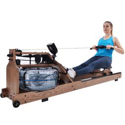 NEW Water Rower Cardio Fitness Wood Rowing Machine LCD Monit