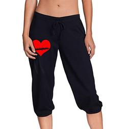 Rowing Heart Rower Women's Capri Pant, Running Beam Trousers