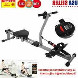 Steel Rower Rowing Machine Cardio Workout Body Training Home
