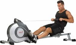 Sunny Health & Fitness Magnetic Rowing Machine Rower w/LCD M