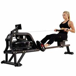 Sunny Health & Fitness Water Rowing Machine Rower w/LCD Moni
