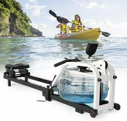 Water Rowing Machine Full Body Stamina Exercise Rower with A