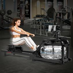 Water Rowing Machine Water Rower Resistance w/LCD Bluetooth