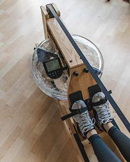 Incline Fit Wood Water Rowing Machine with Monitor